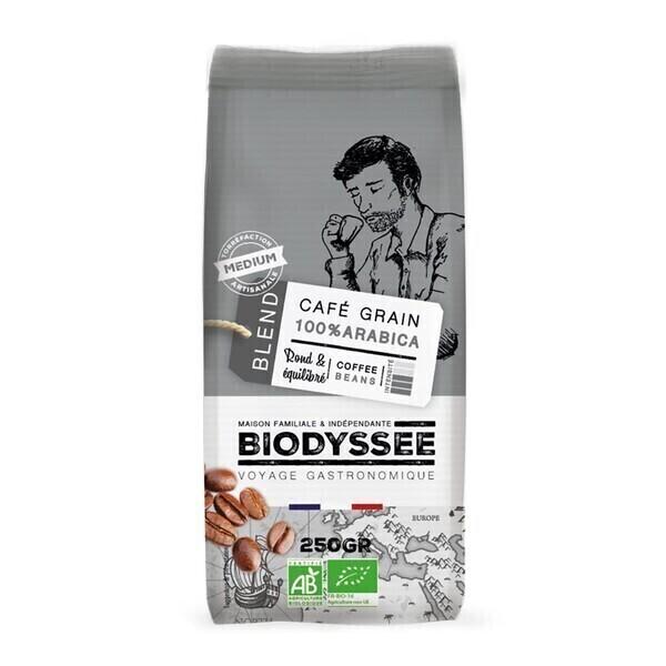 Biodyssée - Café grain 100% arabica médium 250g bio