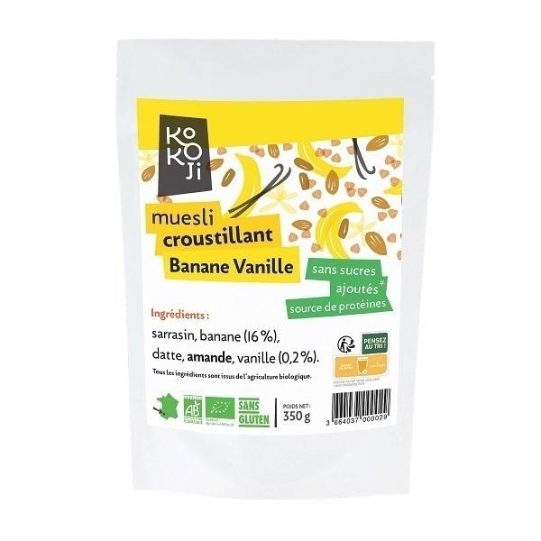 KOKOJI - Muesli Croustillant Banane Vanille 350g