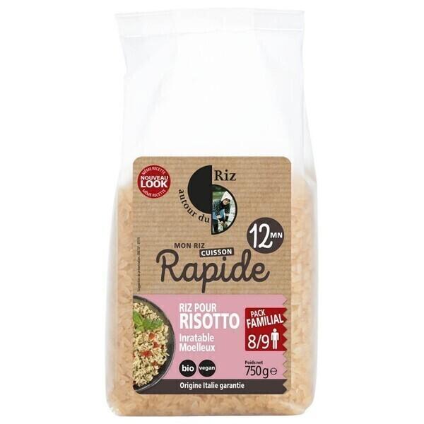 Autour du Riz - Riz pour risotto étuvé cuisson 12' - 750 g