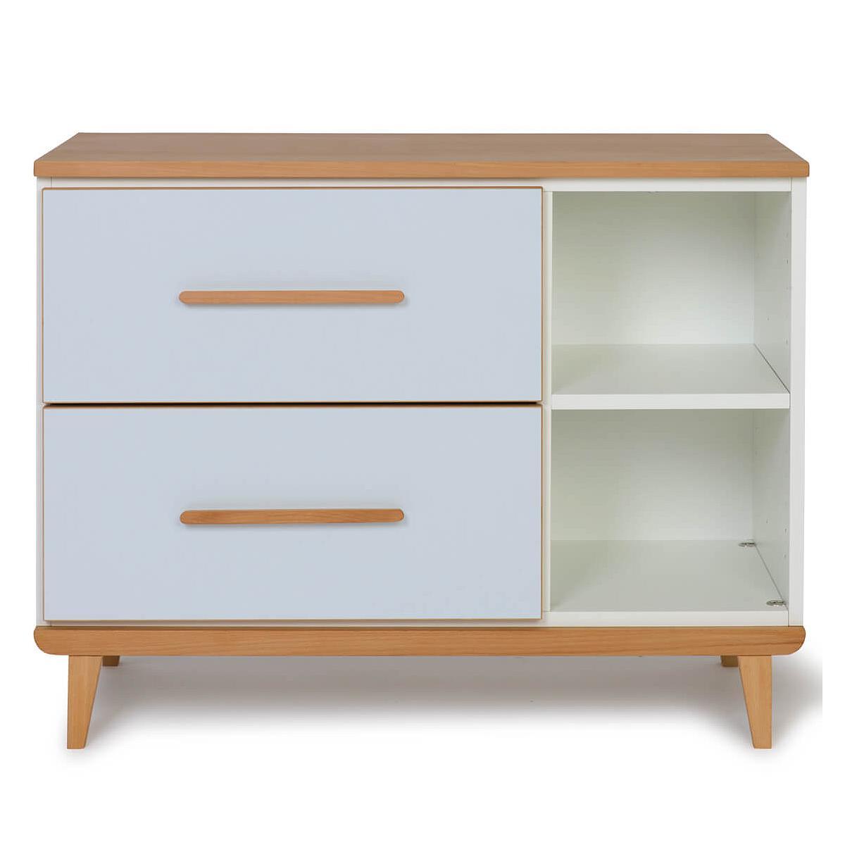 Wookids - Petit meuble 2 tiroirs NADO sky blue