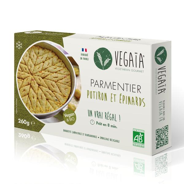 Vegaïa - Parmentier potiron épinards- barquette de 260g