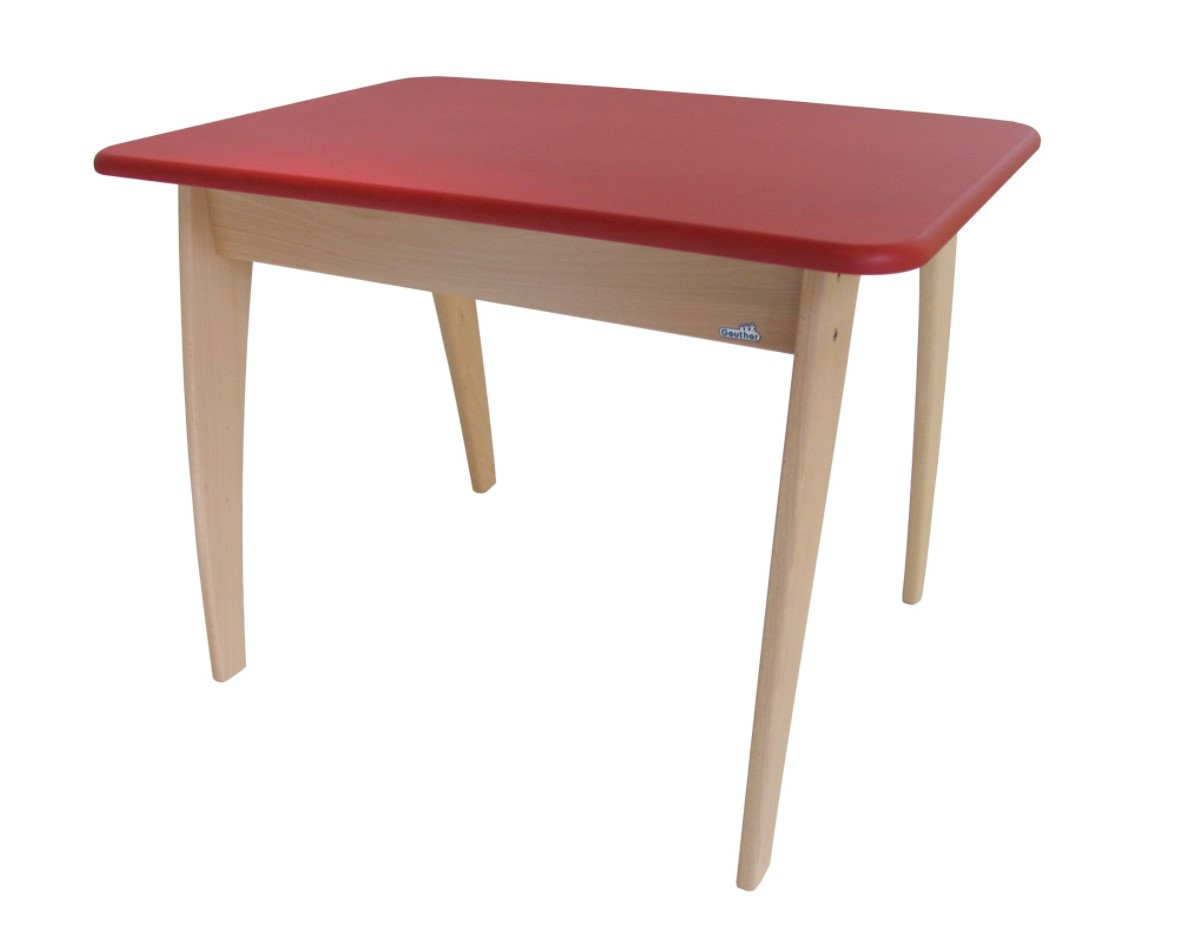 Geuther - Table bambino 76 x 52.5 x 55.3 cm rouge et naturel