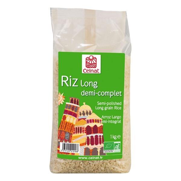 Celnat - CELNAT - RIZ LONG 1/2 COMPLET 1KG