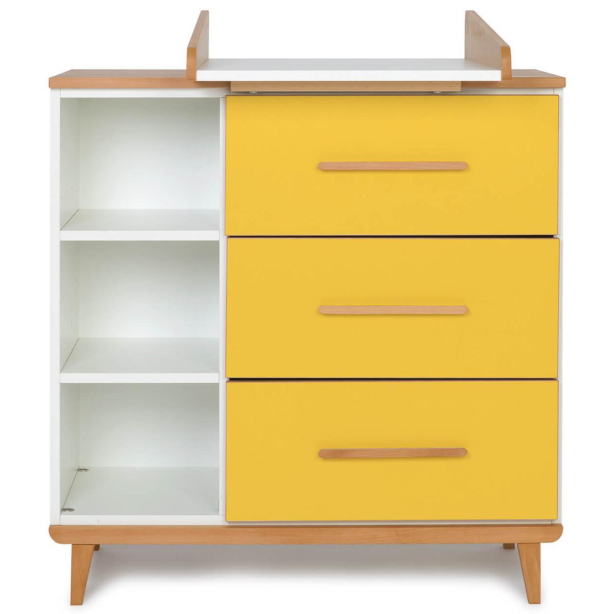 Wookids - Commode à langer 3 tiroirs NADO yellow
