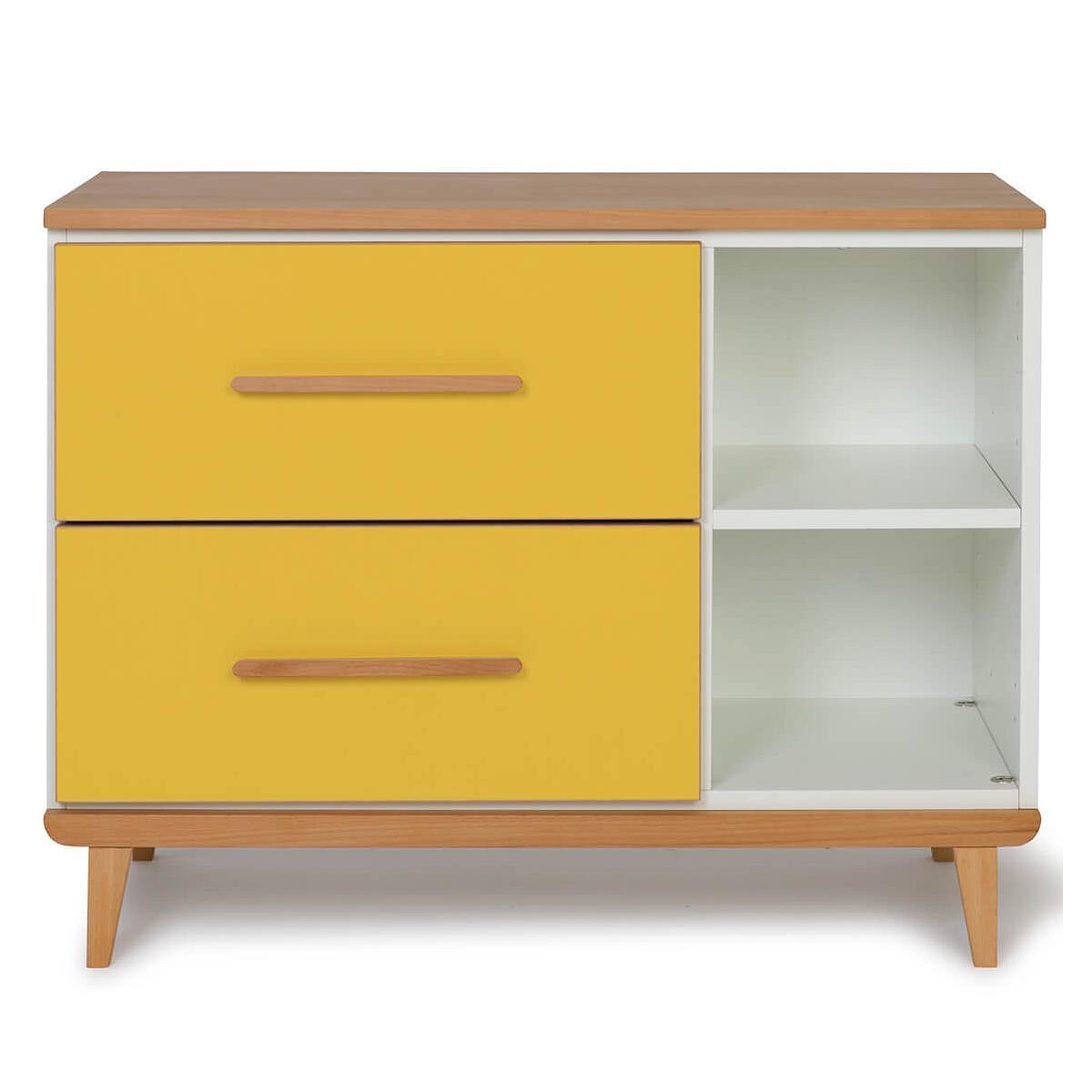 Wookids - Petit meuble 2 tiroirs NADO yellow
