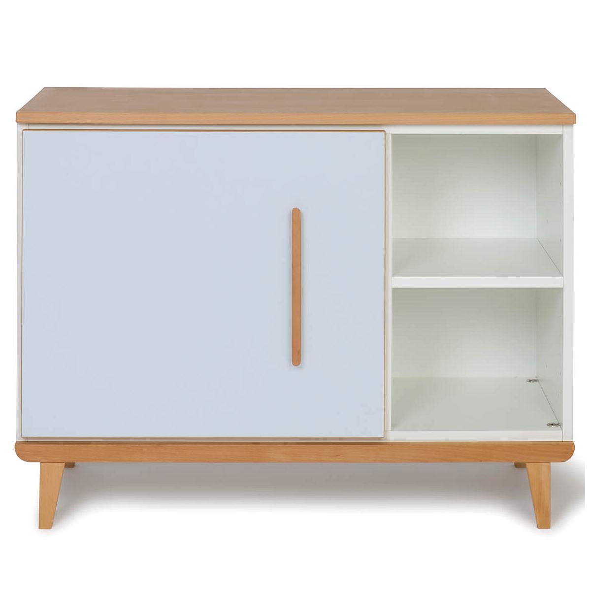 Wookids - Petit meuble 1 porte NADO sky blue