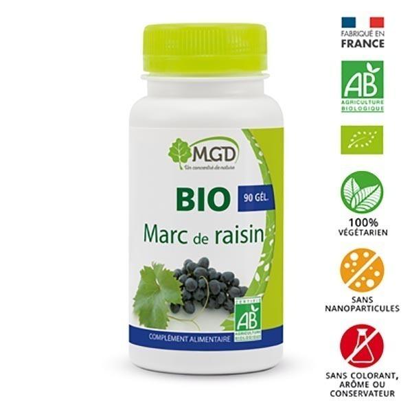 MGD - Marc de raisin 90 gél. bio