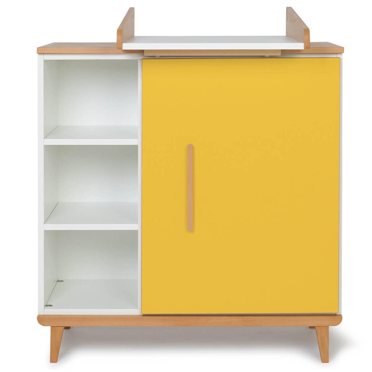 Wookids - Commode à langer 1 porte NADO yellow