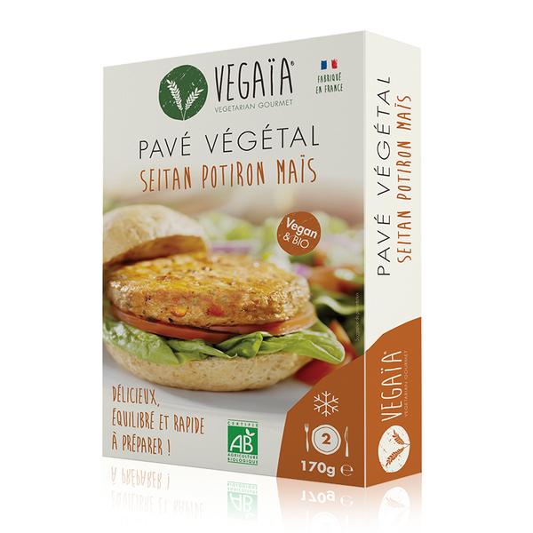 Vegaïa - Pavé / steak végétal SEITAN POTIRON MAIS 2pce 170g