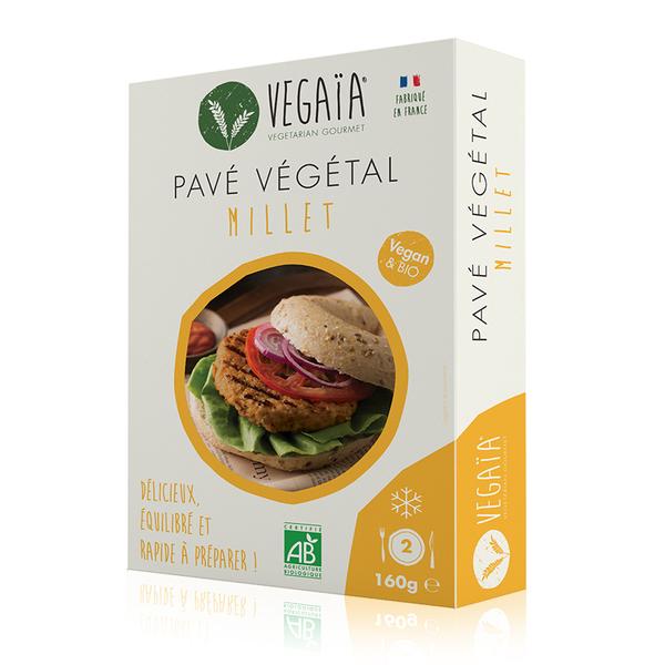 Vegaïa - Pavé / steak végétal Millet 2pce 160g