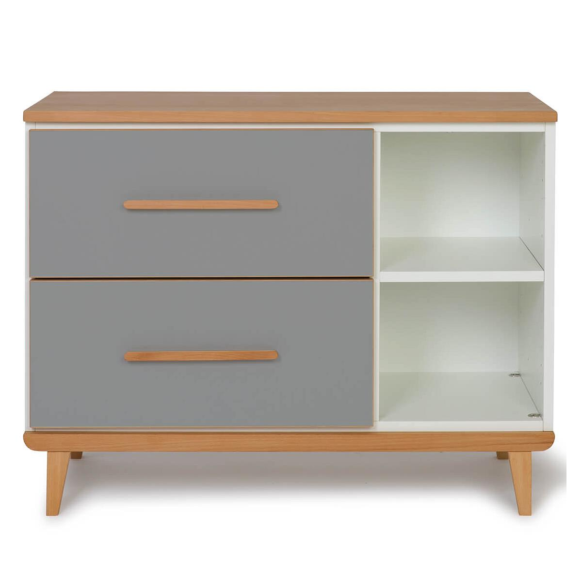 Wookids - Petit meuble 2 tiroirs NADO slate grey