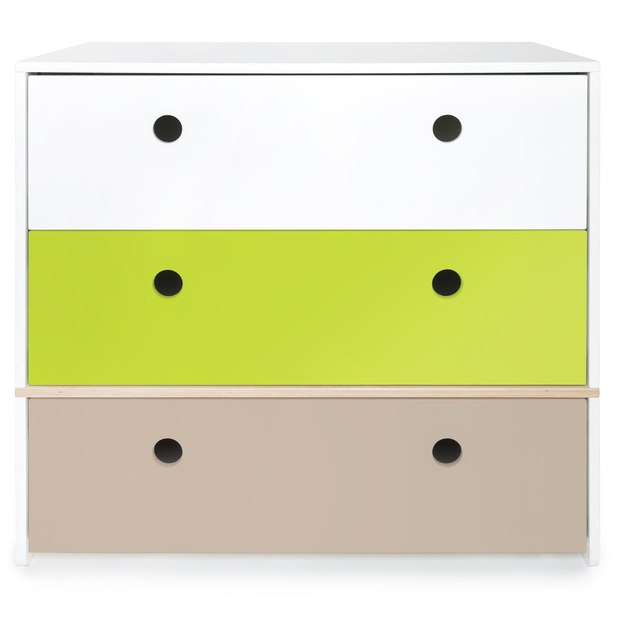 Wookids - Commode COLORFLEX white-lime-w grey