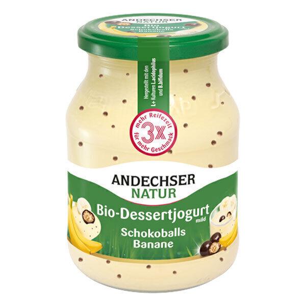 Andechser Natur - Yaourt banane perles choco 500g