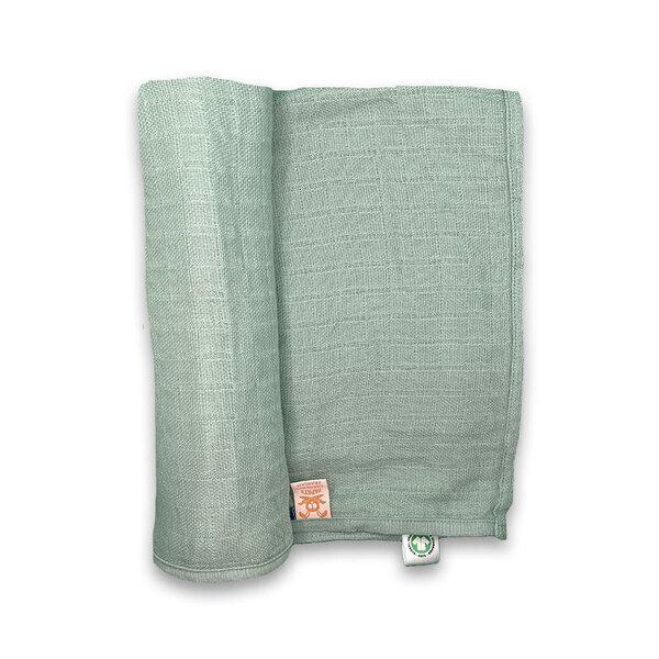 PAPATE - Maxi Lange en Coton Bio Tan Vert