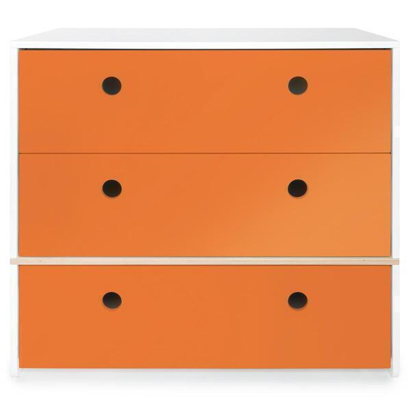 Wookids - Commode 3 tiroirs COLORFLEX p orange
