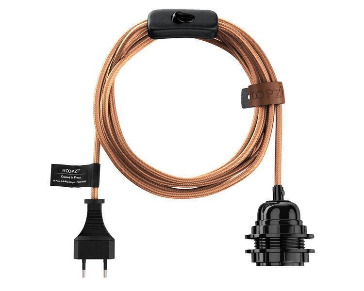 Hoopzï - Bala LUXE - Fil Electrique Tissu - Luminaire 4,5m (6 couleurs)
