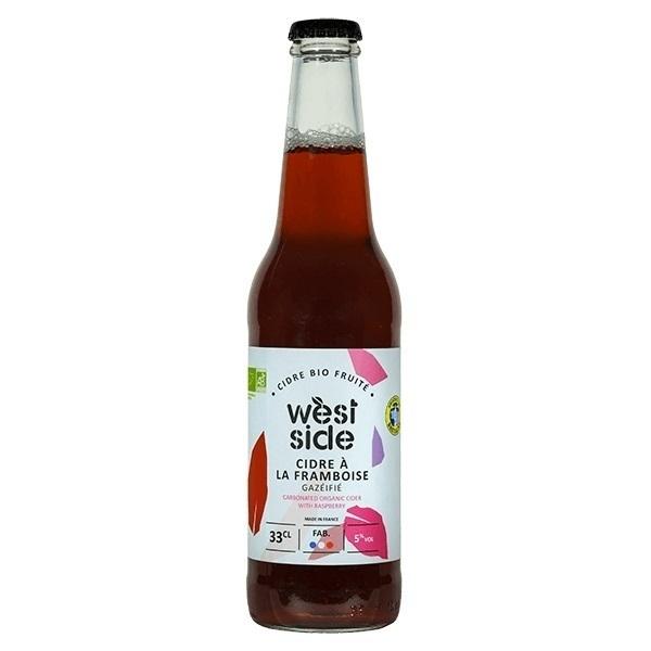 Côteaux Nantais - Cidre à la framboise WEST SIDE Bio - 33 cL