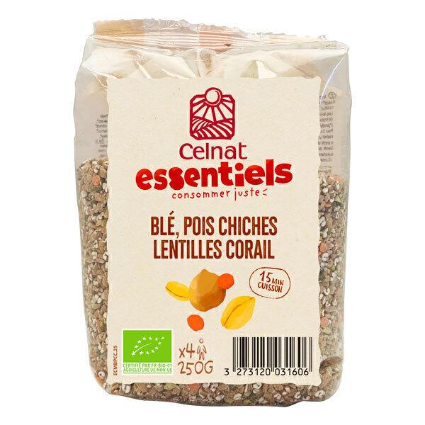 Celnat - Blé, pois chiches et lentilles corail 250g