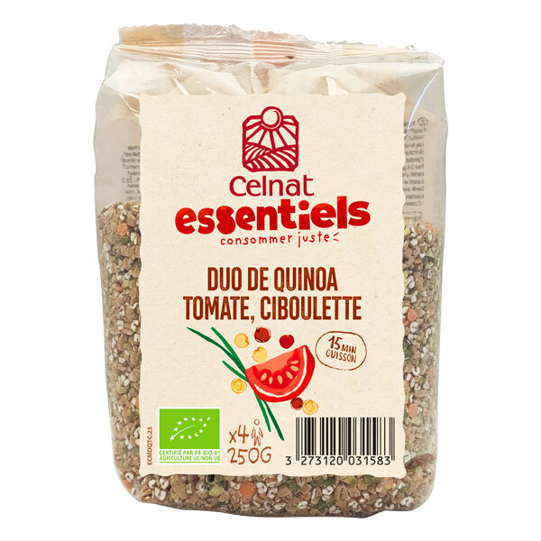 Celnat - Duo de quinoa, tomate et ciboulette 250g