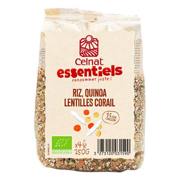 Celnat - Riz, quinoa et lentilles corail 250g