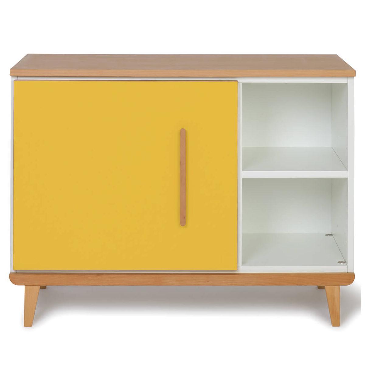 Wookids - Petit meuble 1 porte NADO yellow