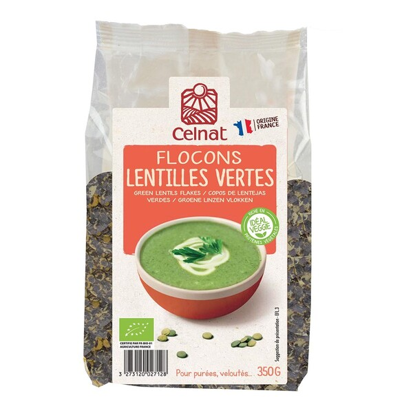 Celnat - Flocons de lentilles vertes 350g bio