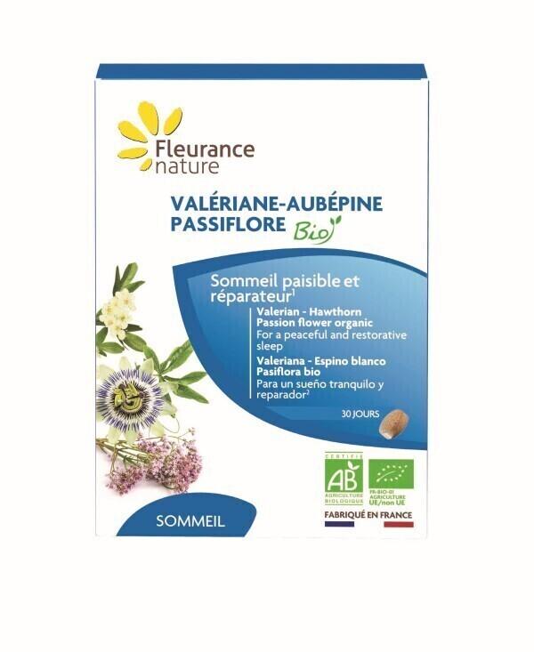Fleurance Nature - VALERIANE - AUBEPINE - PASSIFLORE BIO