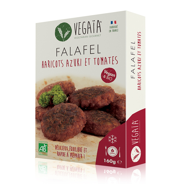 Vegaïa - FALAFEL haricots rouges Azuki et tomates 6pce 160g