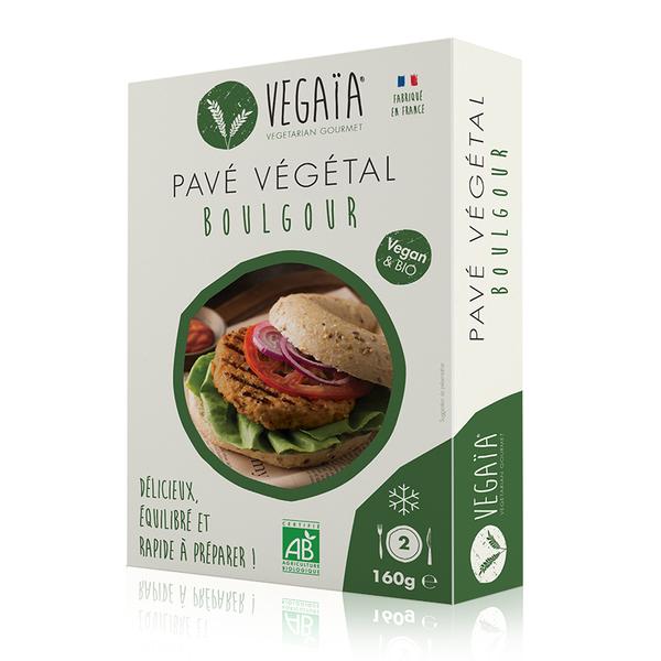 Vegaïa - Pavé / steak végétal Boulgour 2pce 160g