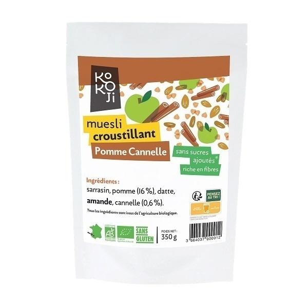 KOKOJI - Muesli Croustillant Pomme Cannelle 350g