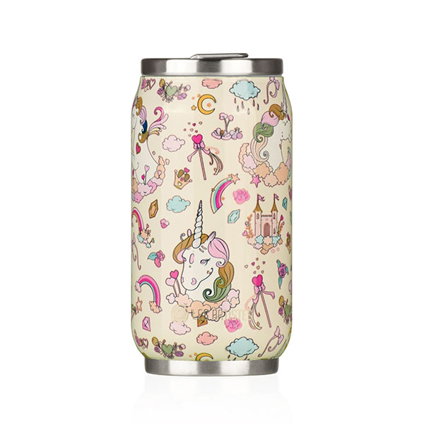 Les Artistes - Mug isotherme Pull Can'it Licorne Ivoire brillant 28cl