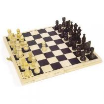 Equilibre et Aventure - Wooden transportable chess game