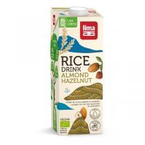Lima - Boisson végétale riz noisette amande 1l