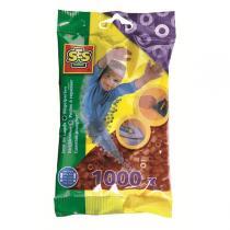 SES Creative - Perlas para planchar 1000 pzs Marrón