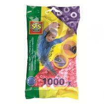 SES Creative - Perlas de planchado 1000 pzs Rosa metal