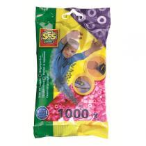 SES Creative - Bügelperlen - 1000 Stück - neonpink