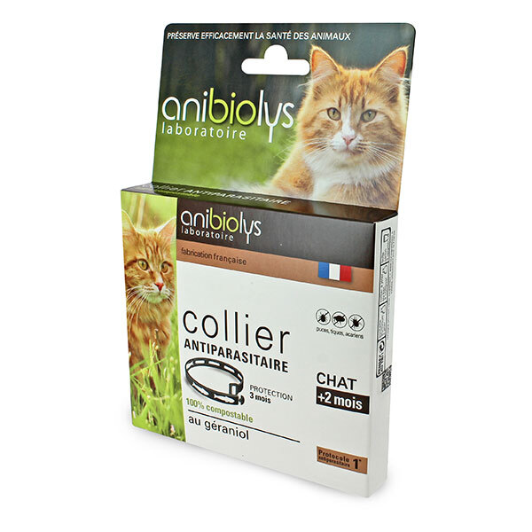 Anibiolys - Collier antiparasitaire géraniol chat
