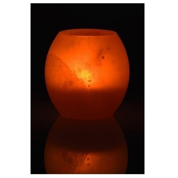 Bio Elements - Curved Natural Salt Candle 1 kg