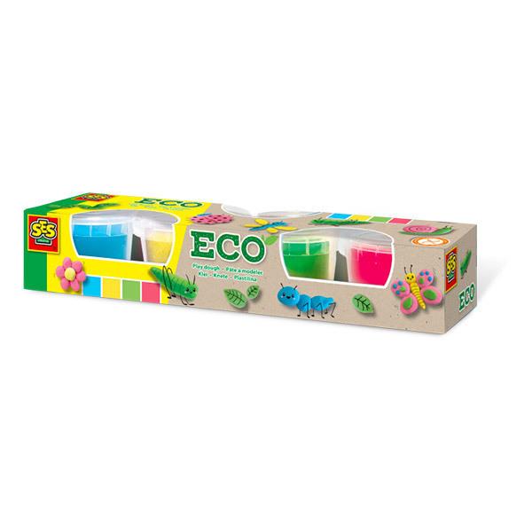 SES Creative - Pâte à modeler douce ECO 4 pots