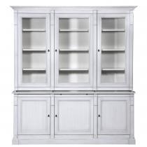 Gontier - Bibliothèque en chêne massif - 2 corps 3 portes