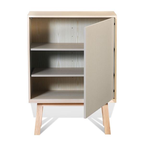 Mon petit meuble français - Armoire 1 porte en frêne 90x46 cm
