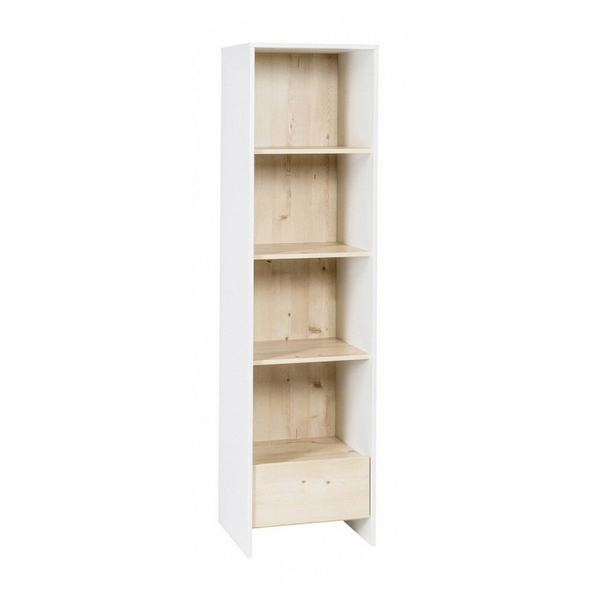 Schardt - Bibliothèque 4 niveaux 1 tiropir bois blanc et pin clair Timber