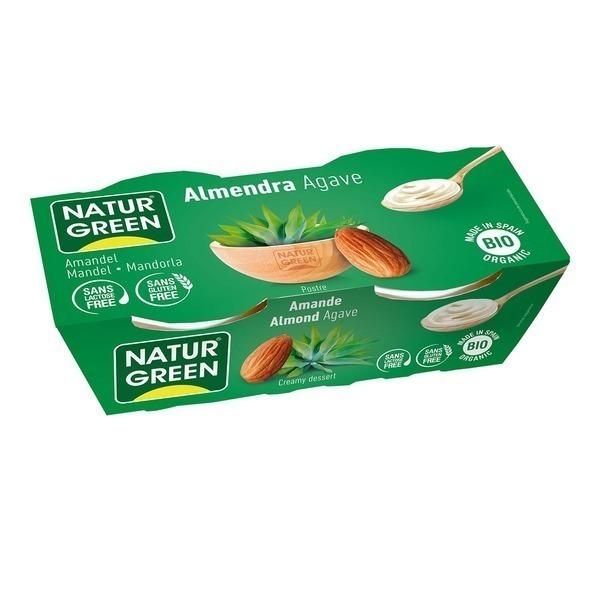 NaturGreen - Dessert aux Amandes Sirop d'Agave 2x125g Bio