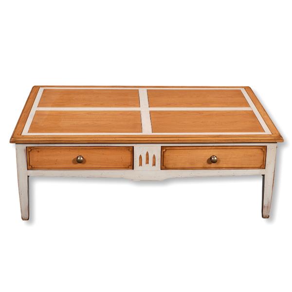 Gontier - Table basse avec tiroir, chêne massif 100% Fabrication Française