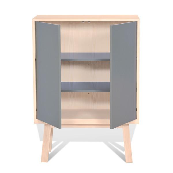 Mon petit meuble français - Armoire 2 portes en frêne 90x46 cm