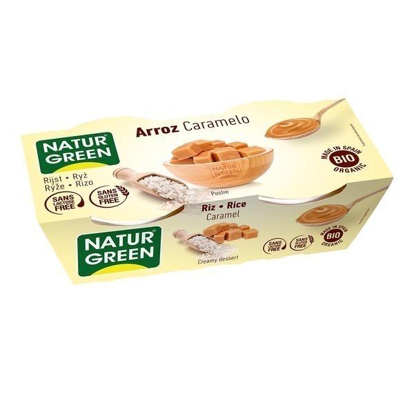 NaturGreen - Dessert Riz Caramel 2x125g Bio