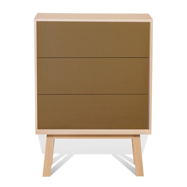 Mon petit meuble français - Commode 3 grands tiroirs en frêne 90x46 cm