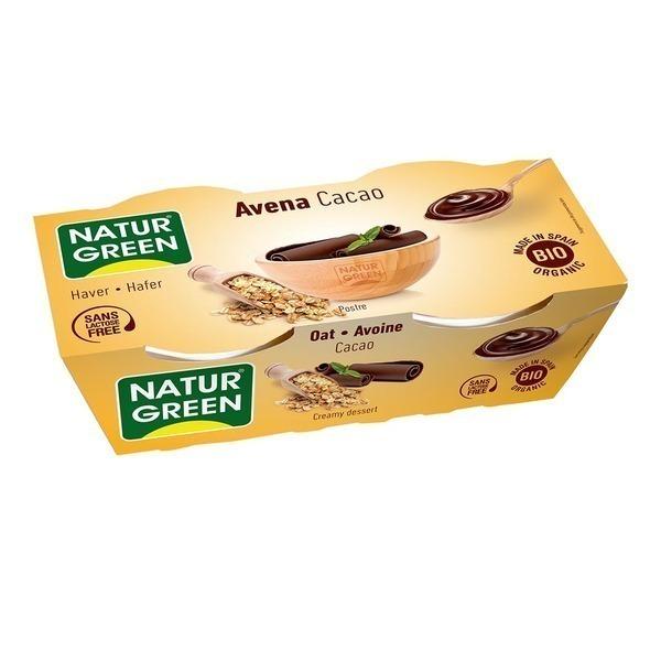 NaturGreen - Dessert Avoine-Cacao 2x125g Bio