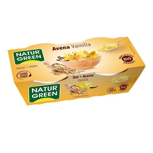 NaturGreen - Dessert Avoine-Vanille 2x125g Bio