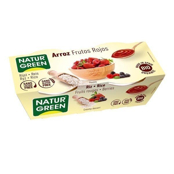 NaturGreen - Dessert Riz Fruits-Rouges 2x125g Bio